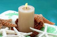 Kerze in Badewanne