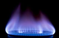Flamme einer Gasheizung